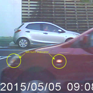 LEFT indicators clearly visible